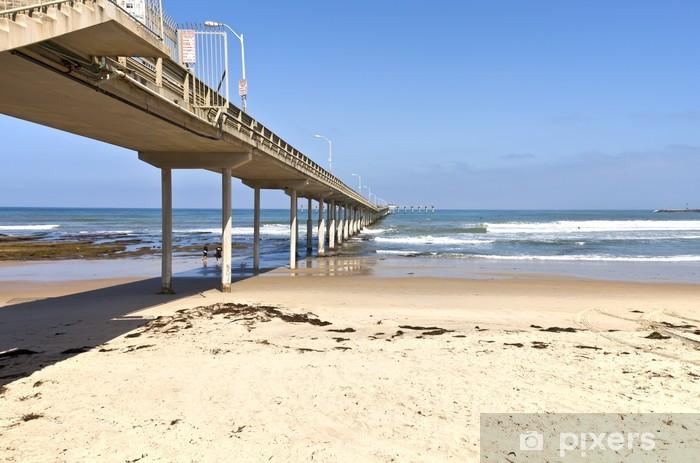 Nálepka Pixerstick Point Loma San Diego molo a ocean california. - Amerika