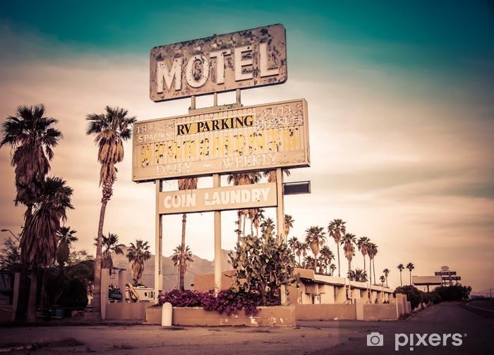 Fotomural Estándar Carretera signo motel - decaído icónica Southwest EE.UU. - Las Vegas