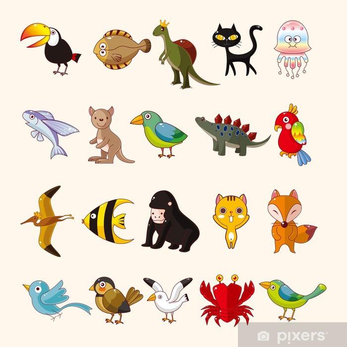 Plakat Zestaw ikon zwierząt -