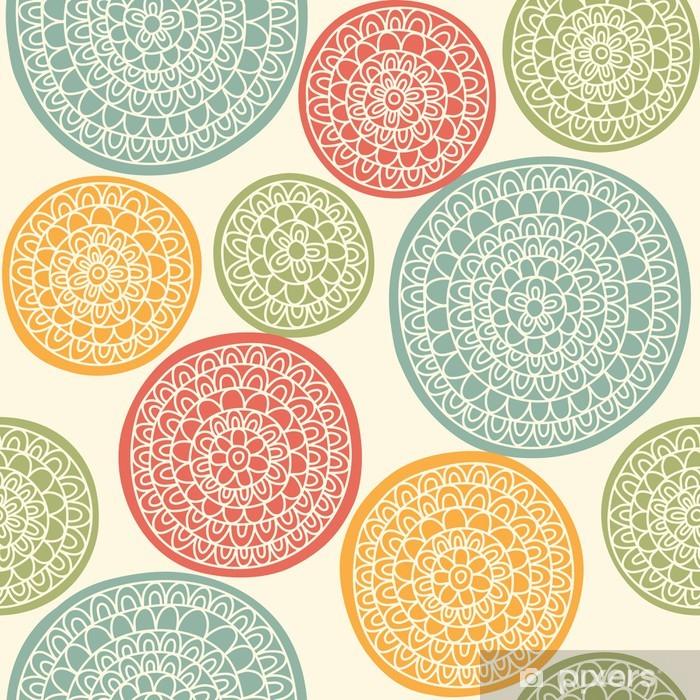 Poster Nahtlose Muster mit dekorativen Kreise - Sales