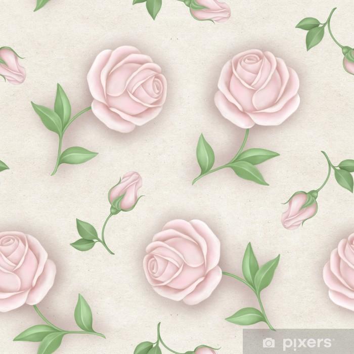 Fototapeta winylowa Elegance Seamless wzór z kwiatów. Roses - Style