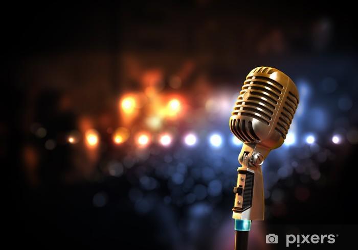 Pixerstick Dekor Audio mikrofon retrostil - Hio hop