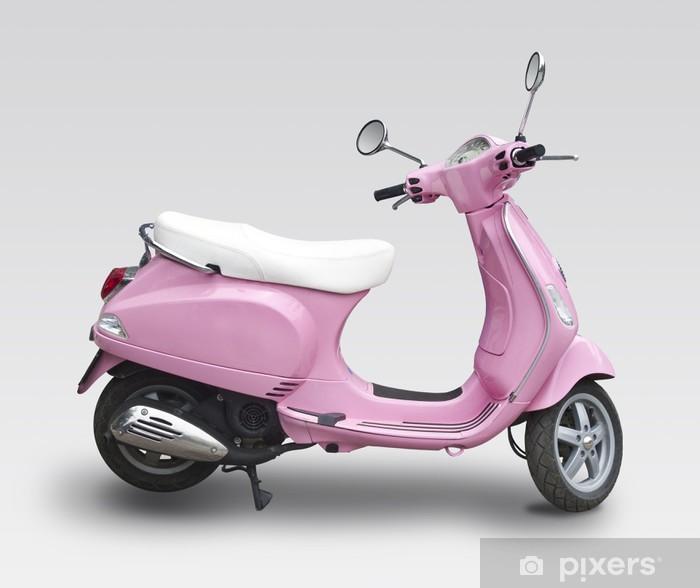 Carta da Parati in Vinile Scooter Rosa - In viaggio