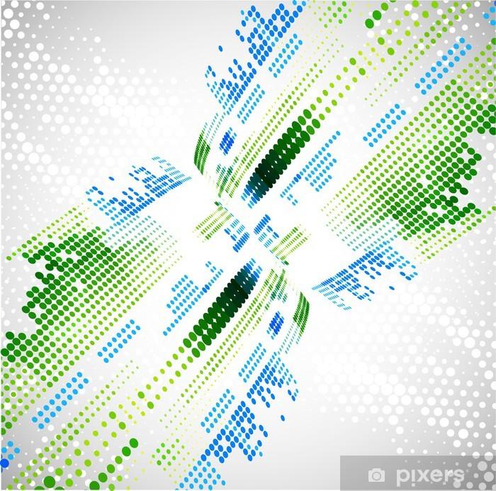 Papier peint vinyle Résumé de fond la technologie. Vecteur - Internet et réseaux