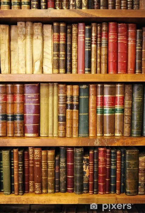 Papier peint vinyle Vieux livres de bibliothèque - Bibliothèque