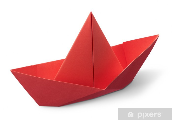 Origami Paper Boat Sticker Pixers We Live To Change