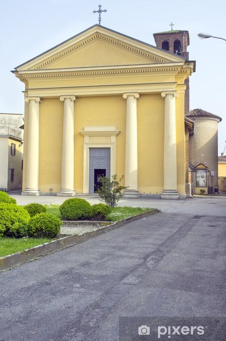 Sticker Pixerstick Image couleur église San Rocco externe Sartirana Lomellina - Bâtiments publics