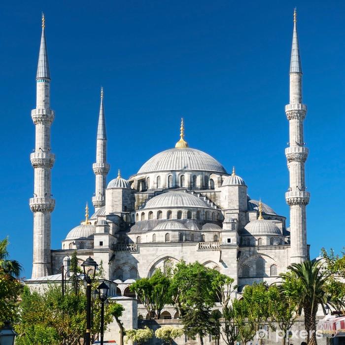 Naklejka Pixerstick Widok na Błękitny Meczet (Sultanahmet Camii) w Stambule, Turcja - Budynki użyteczności publicznej