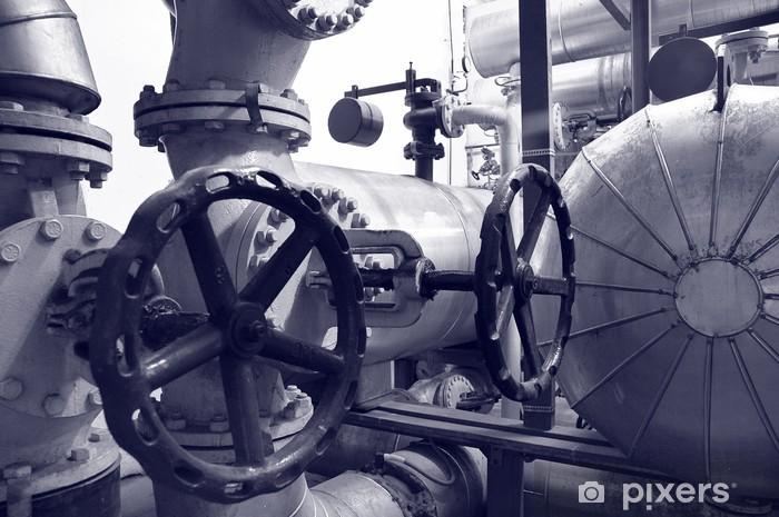 Papier peint vinyle Gaz de l'industrie et de tuyaux d'huile - Bâtiments commerciaux et industriels