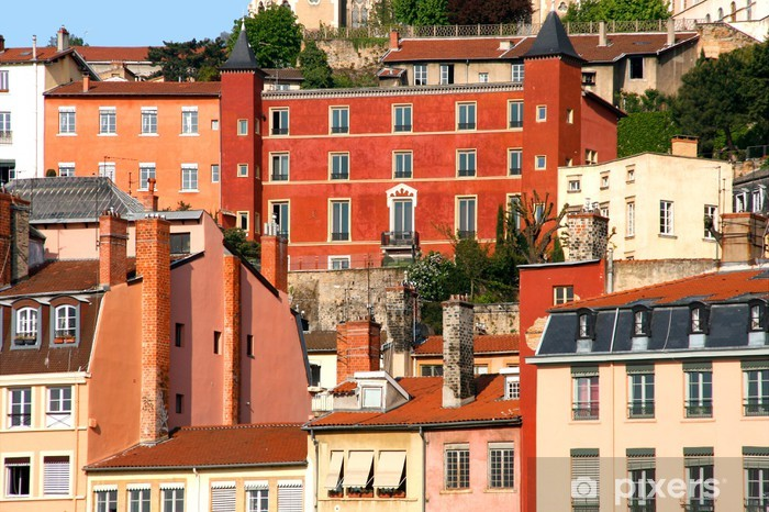 Papier peint vinyle Détail Vieux Lyon / France - Europe