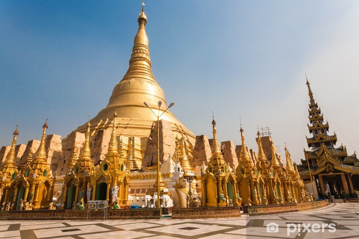 Naklejka Pixerstick Shwedagon Pagoda, Yangon, Birma - Azja