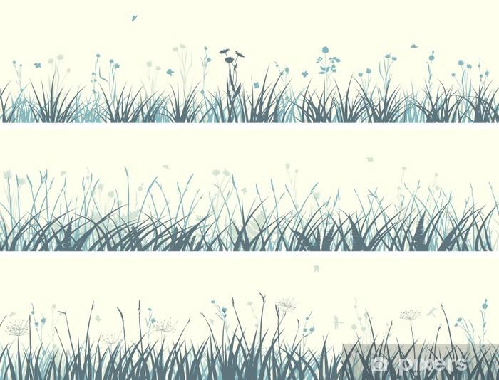Sticker Pixerstick Banner of abstrait herbe des prairies. - Campagne