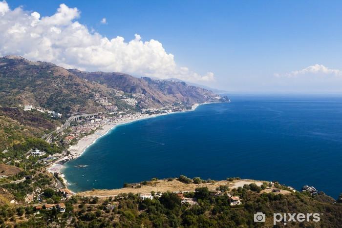 Papier peint vinyle La belle côte verte de montagne en Sicile. Bella Italia série - Europe
