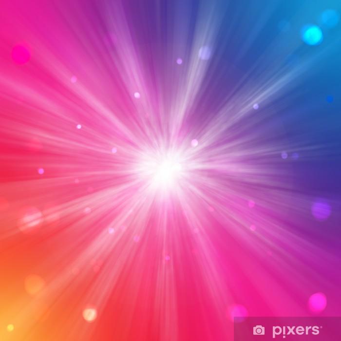 Carta Da Parati Sfondo Arcobaleno Con Cerchi E Raggi Di Luce