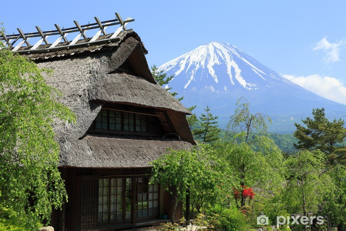 Sticker Pixerstick Mai Mont Fuji - Saisons