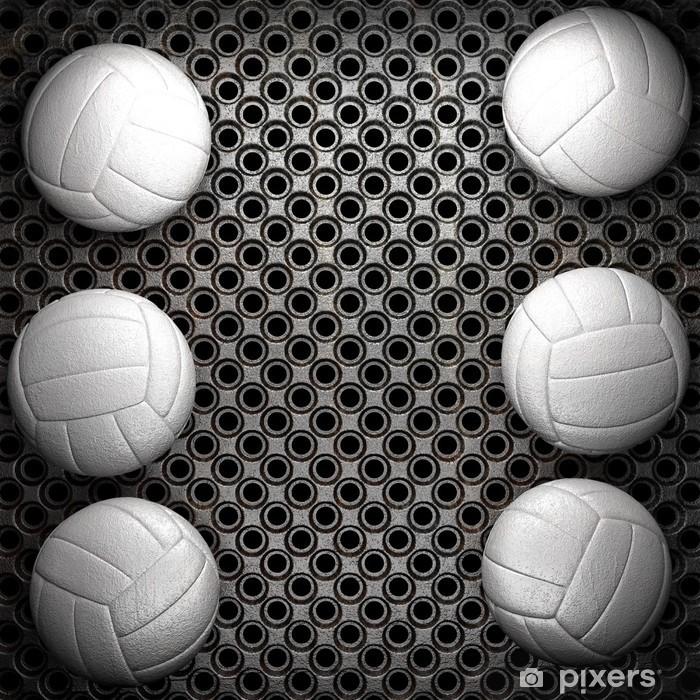 Sticker Pixerstick Volley ball et le métal fond de mur - Volley-Ball
