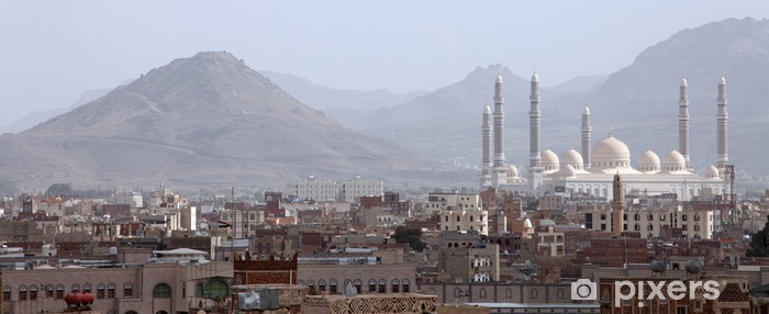 Naklejka Pixerstick Al Saleh Meczet w Sanie, w Jemenie - Religie
