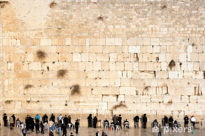 Wailing wall - Jerusalem Vinyl Wall Mural - The Middle East