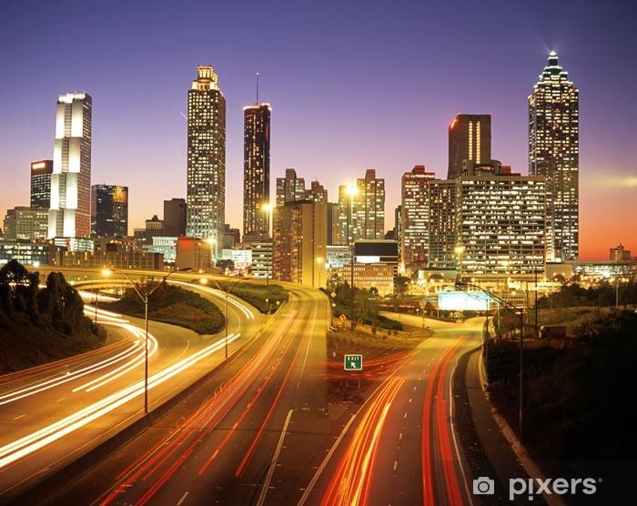Fotomural Estándar Skyline al anochecer, Atlanta, Georgia © Foto Arena Reino Unido - Temas