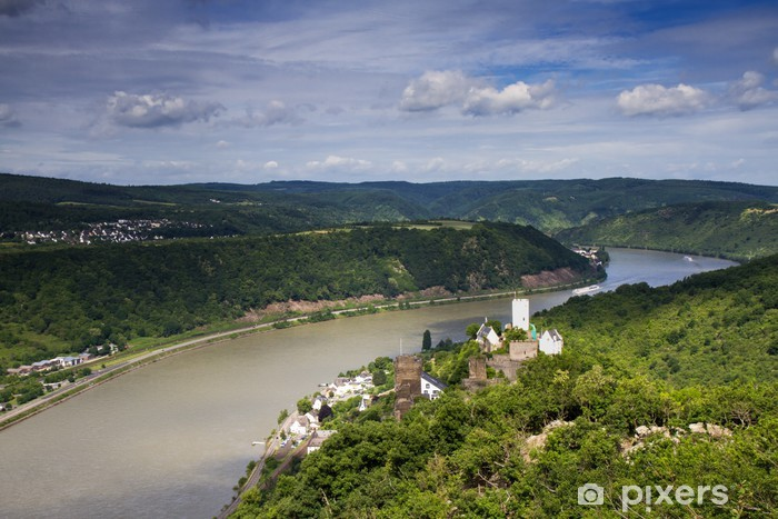 Fototapeta winylowa Widok Z Euro-mit Burg Sterrenberg - Europa