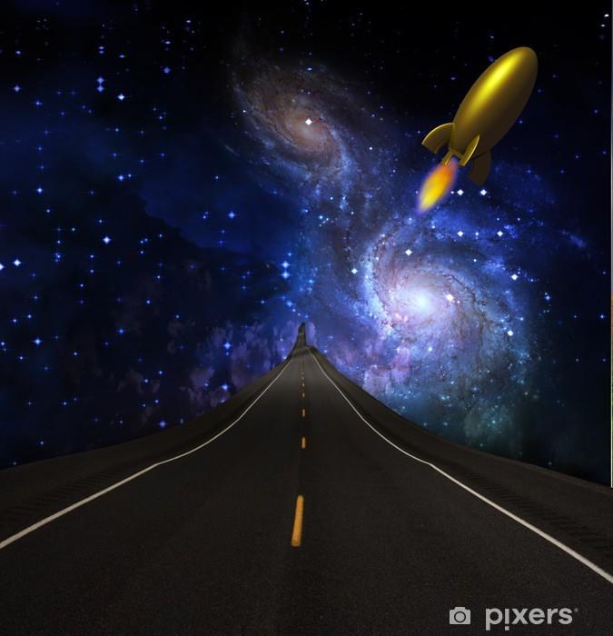Naklejka Pixerstick Droga do gwiazd - Przestrzeń kosmiczna