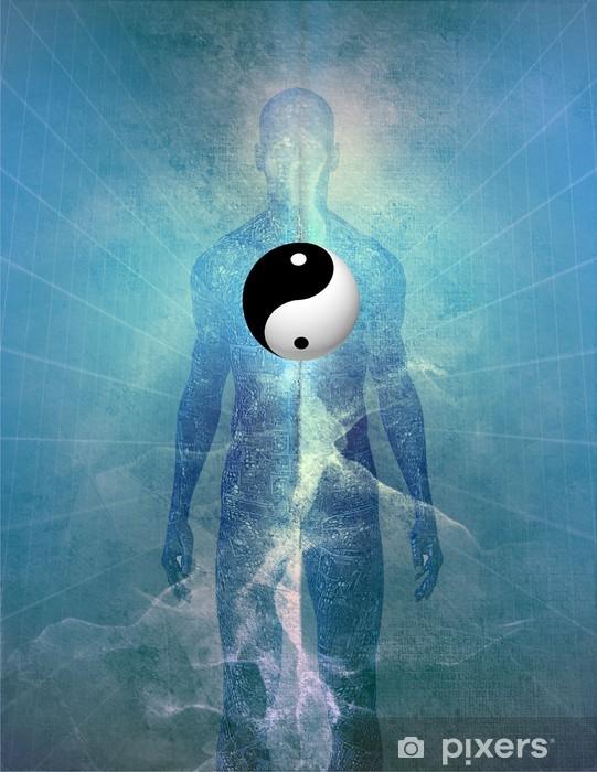 Sticker Pixerstick Yin Yang humaines - Religion
