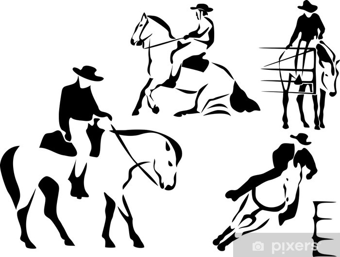 Fototapeta winylowa Western Riding - Znaki i symbole