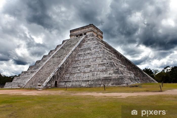 Papier peint vinyle Pyramide de Kukulkan dans Chichen Itza sur la péninsule du Yucatan, au Mexique - Amérique