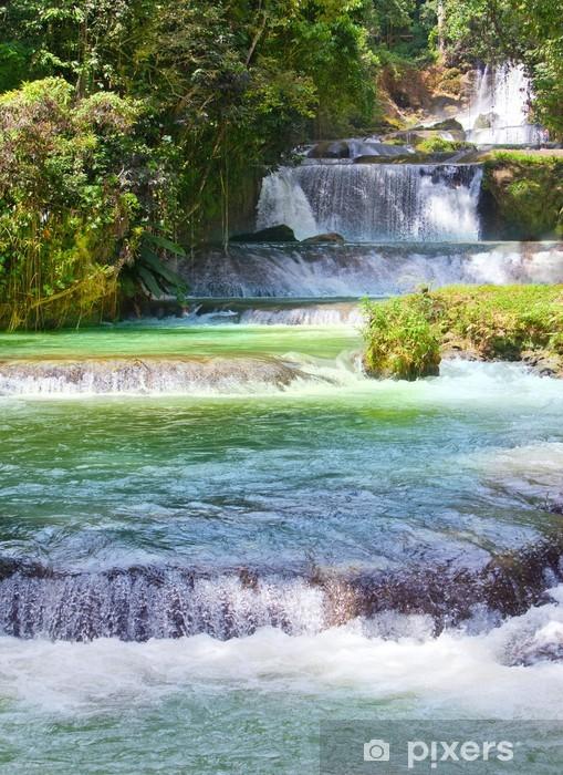 Carta da Parati in Vinile Giamaica. Cascate del fiume Dunn - Natura