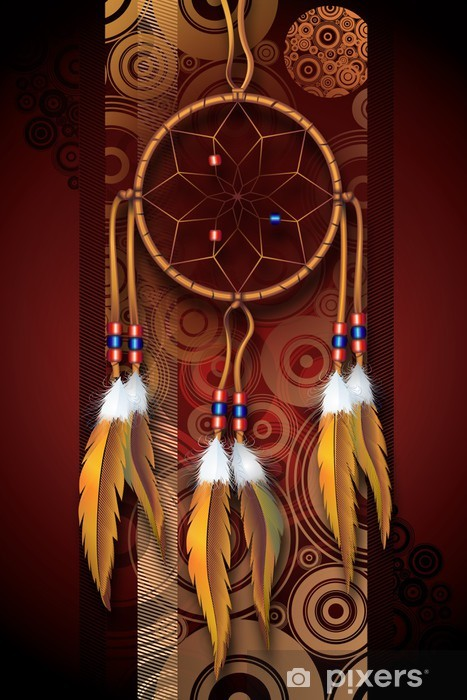 Native American Art Wall Mural • Pixers® • We live to change