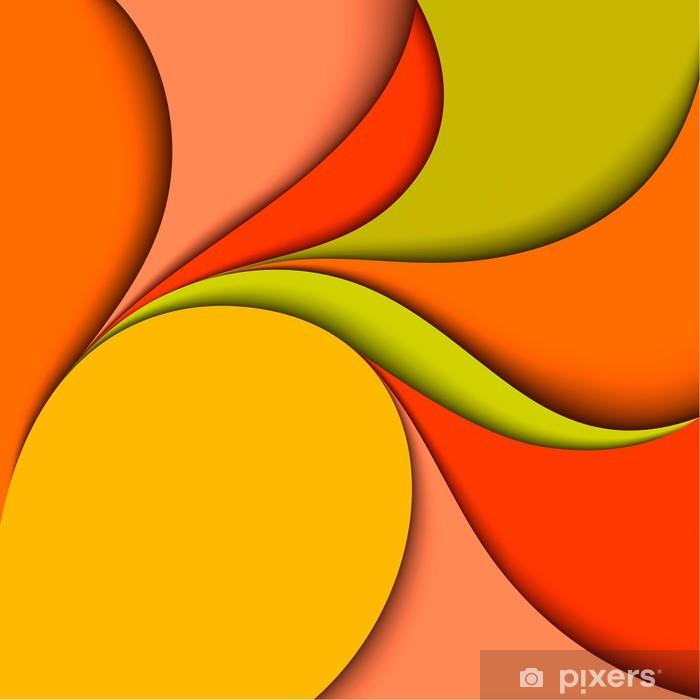 Naklejka Pixerstick Kolorowe faliste konstrukcja. Abstract background - Tła
