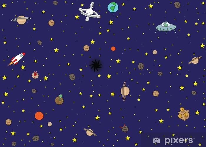 Nálepka Pixerstick Space tapeta - Témata