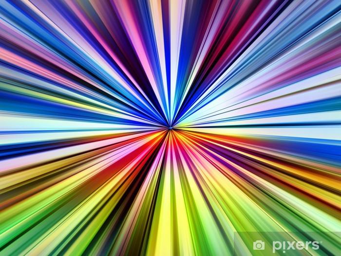 Carta Da Parati Multicolore Puntino Raggi Di Luce Esplosione