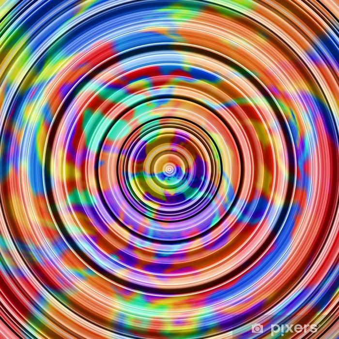 Sticker Les couleurs chaudes abstraite cercles illustration ...