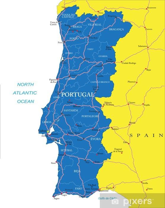 Portugalin Kartta Tapetti Pixers Elamme Muutoksille