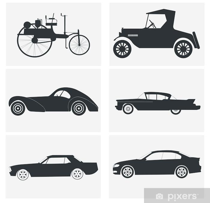 Naklejka Pixerstick Historia samochodów - Transport drogowy