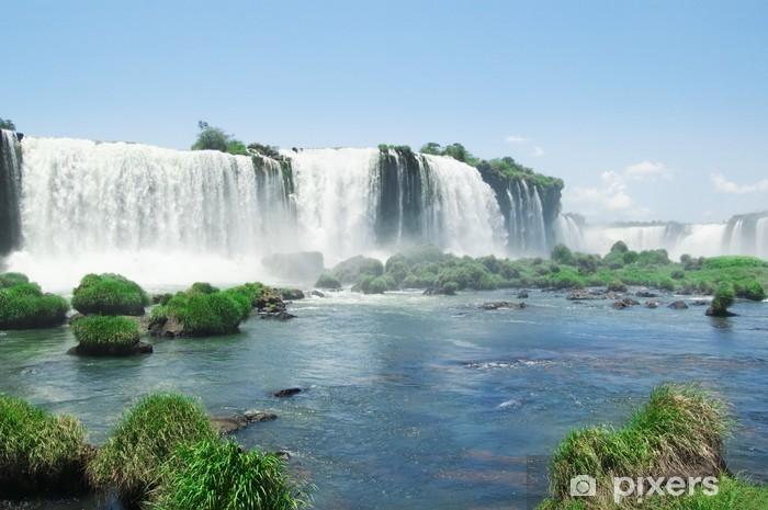 Sticker Pixerstick Chutes d'Iguazu - Amérique