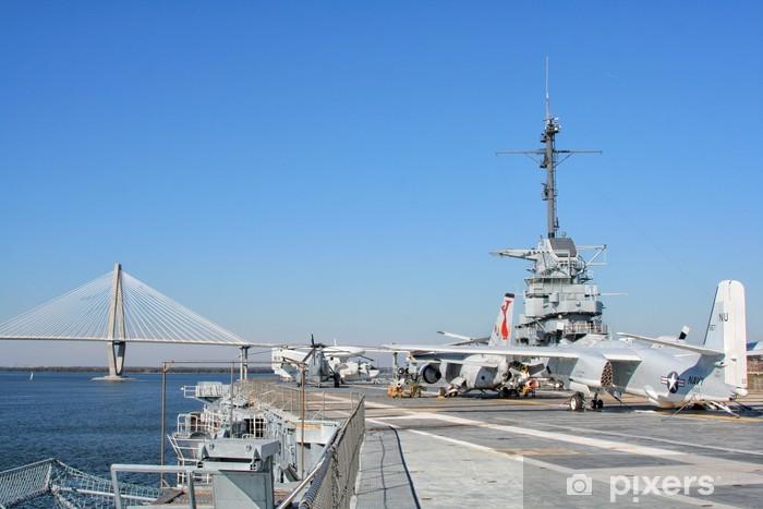 Sticker Pixerstick USS Yorktown Aircraft Carrier à Charleston, Etats-Unis - Amérique
