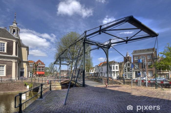 Vinyl-Fototapete Zugbrücke in Holland - Europa