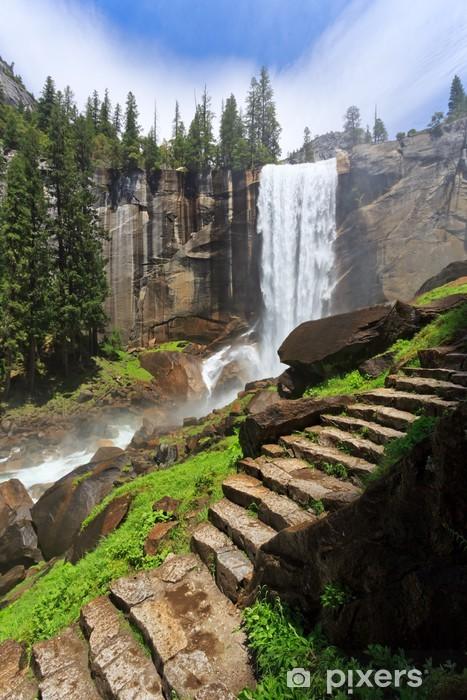 Papier peint vinyle Vernal Fall, Parc national de Yosemite - Thèmes