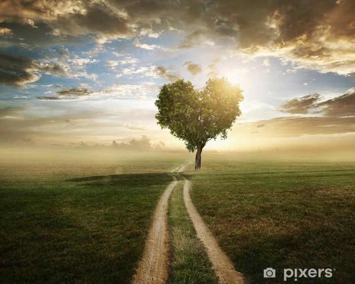 Vinilo Pixerstick Amor árbol - Temas