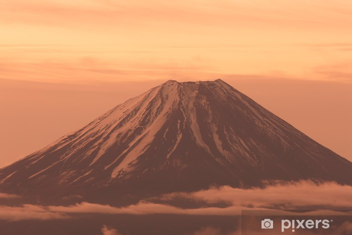 Adesivo Pixerstick 櫛 形 山 か ら の 富士山 - Montagne