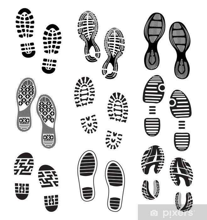 Triptych Samlingen av en avtrykk soles sko • Pixers® Vi