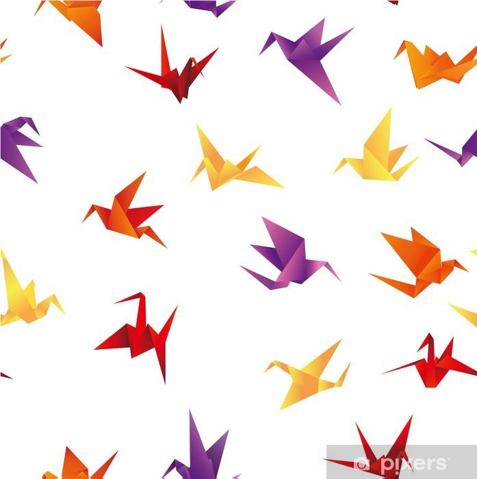 Papier peint vinyle Sans soudure de fond papier oiseau - Autres objets