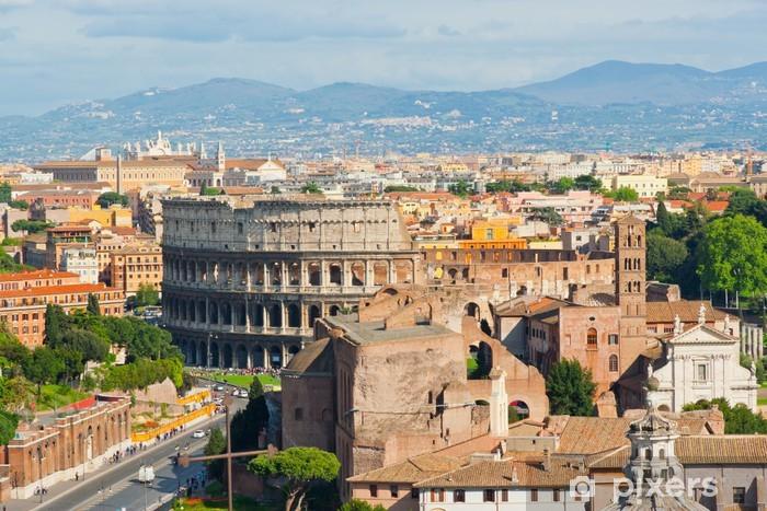 Papier peint vinyle Le Colisée de Rome - Italie - Thèmes