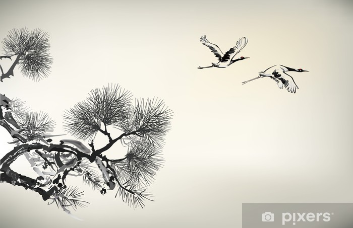 pine tree Vinyl Wall Mural - Trees