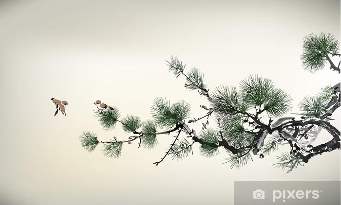 Pixerstick Aufkleber Schmerzen Baum - Bäume