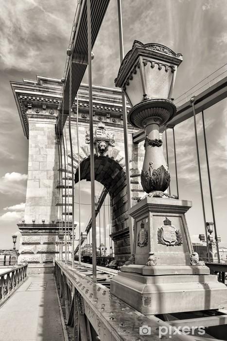 Fototapeta winylowa Corvinus Budapest dni monochromatyczny widok - Infrastruktura