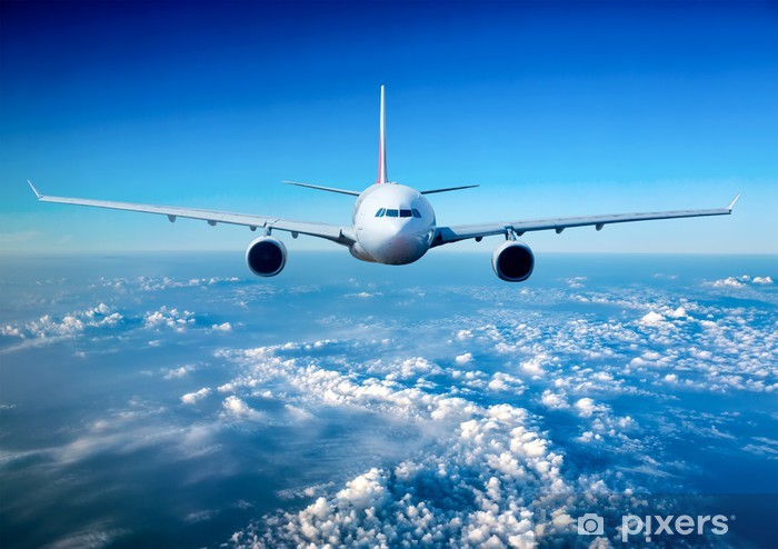 Fototapet av Vinyl Passagerarflygplan på himlen - Teman