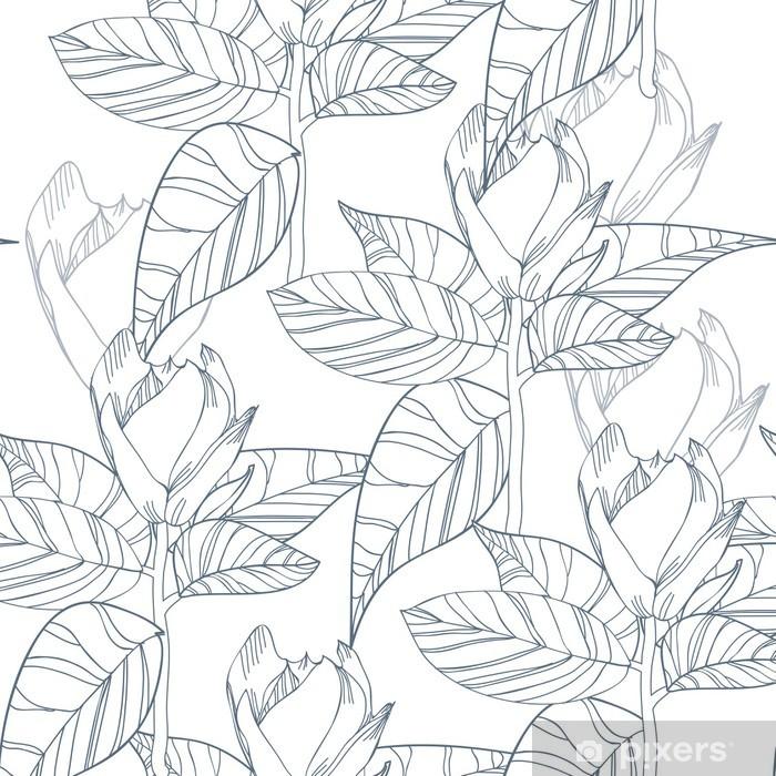 Papier peint vinyle Texture florale - Arrière plans
